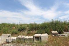 Abandonado de ladrillo concreto Fotos de archivo