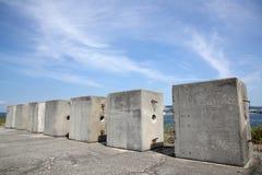 Abandonado de ladrillo concreto Fotografía de archivo