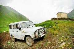 Abandonado del coche del camino Imagen de archivo
