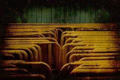 Abandonado el tubo amarillo Imagen de archivo libre de regalías