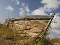Abandonado en la tierra seca Imagen de archivo libre de regalías
