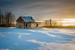 Abandonado poca casa en las praderas Imagen de archivo
