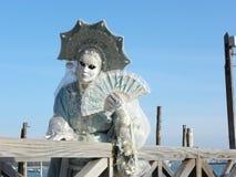 Abandonado a sí misma, carnaval de Venecia Fotografía de archivo
