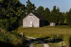 Abandonado una escuela de país del sitio - Kentucky del este Imagenes de archivo