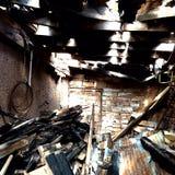 abandonado y quemado Fotos de archivo