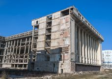 Abandonated Building for 25 years - Bucharest Royalty Free Stock Photography