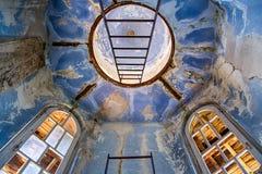 Abandonated tower. At Rafut, Nova Gorica, Slovenia Royalty Free Stock Images