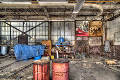 Abandonded airplane hanger Royalty Free Stock Images