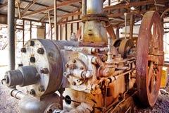 Abandonded Bergwerksausrüstung Stockfotos