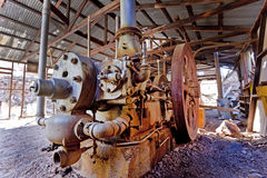 Abandonded Bergwerksausrüstung Lizenzfreies Stockfoto
