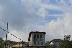 Abandonded-Gebäude in meiner Heimatstadt stockbild