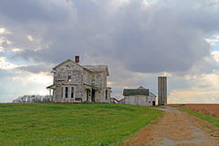 Abandonded gospodarstwa rolnego dom Zdjęcie Royalty Free