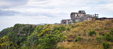 Abandonded hotel on Bokor Hill in Kampot, Cambodia Stock Images