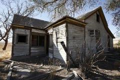 abandonded hus Arkivfoto