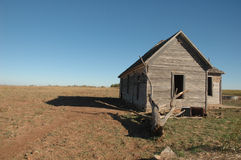 abandonded hus oklahoma Royaltyfri Bild