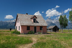 Abandonded hus på mormonrad Royaltyfria Bilder