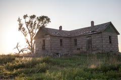 Abandonded lantgård Arkivfoto