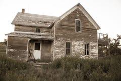 Abandonded lantgård Arkivfoton