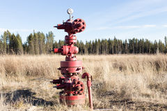 Abandonded natural gas wellhead. Abandoned natural gas wellhead with casing vent stock photography