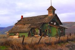 Abandonded Obsolete School House Stock Photography