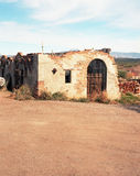 Abandonded tegelstenhus Royaltyfri Foto