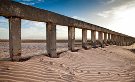 Abandonded una playa egipcia vacía del hotel Fotos de archivo