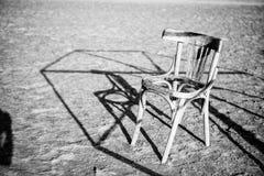 Abandonded una playa egipcia vacía del hotel Imagenes de archivo