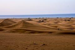 Abandone con las dunas de arena en Gran Canaria España Fotografía de archivo