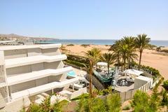 Abandone con las dunas de arena en Gran Canaria España Imagenes de archivo