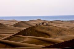 Abandone con las dunas de arena en Gran Canaria España Fotos de archivo libres de regalías