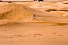 Abandone con las dunas de arena en Gran Canaria España Fotografía de archivo libre de regalías