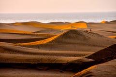Abandone con las dunas de arena en Gran Canaria España Foto de archivo