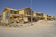 Abandone a construção de casas novas em Clark County, Las Vegas, nanovolt Fotografia de Stock Royalty Free