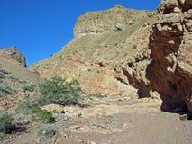 Abandone el barranco cerca de Lava Butte y del lago Las Vegas, Nevada Fotografía de archivo