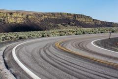 Abandone el camino en el estado de Washington del este, los E.E.U.U. Imagen de archivo libre de regalías