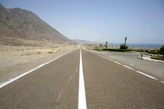 Abandone el camino en el Mar Rojo Fotos de archivo