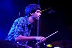 Abandone el concierto (de la banda electrónica) en el La musical Merce Festival de Barcelona Accio (BAM) Imagenes de archivo