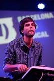 Abandone el concierto (de la banda electrónica) en el La musical Merce Festival de Barcelona Accio (BAM) Imagen de archivo libre de regalías