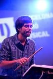 Abandone el concierto (de la banda electrónica) en el Musical de Barcelona Accio (el BAM) Fotografía de archivo