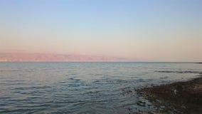 Abandone el paisaje de Israel, mar muerto, Jordania foto de archivo