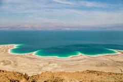 Abandone el paisaje de Israel, mar muerto, Jordania Imagen de archivo