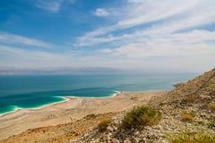 Abandone el paisaje de Israel, mar muerto, Jordania Imagen de archivo libre de regalías
