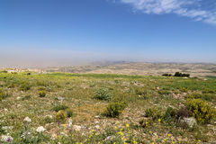 Abandone el paisaje de la montaña (visión aérea), Jordania, Oriente Medio Foto de archivo