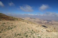 Abandone el paisaje de la montaña (visión aérea), Jordania, Oriente Medio Imagen de archivo