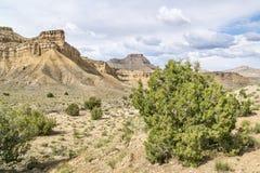 Abandone el paisaje de los acantilados del libro en Utah del este Imagenes de archivo