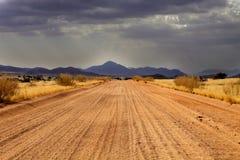 Abandone el paisaje después de una tormenta, Namibia septentrional Foto de archivo libre de regalías