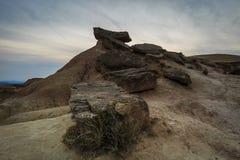 Abandone el paisaje en Bardenas Reales de Navarra, España Fotografía de archivo