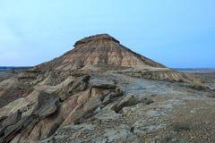 Abandone el paisaje en Bardenas Reales de Navarra, España Fotografía de archivo libre de regalías