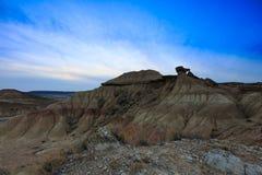 Abandone el paisaje en Bardenas Reales de Navarra, España Fotos de archivo libres de regalías