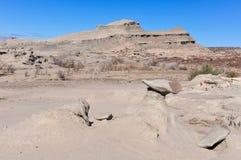 Abandone el paisaje en el parque nacional de Ischigualasto, la Argentina Fotos de archivo libres de regalías